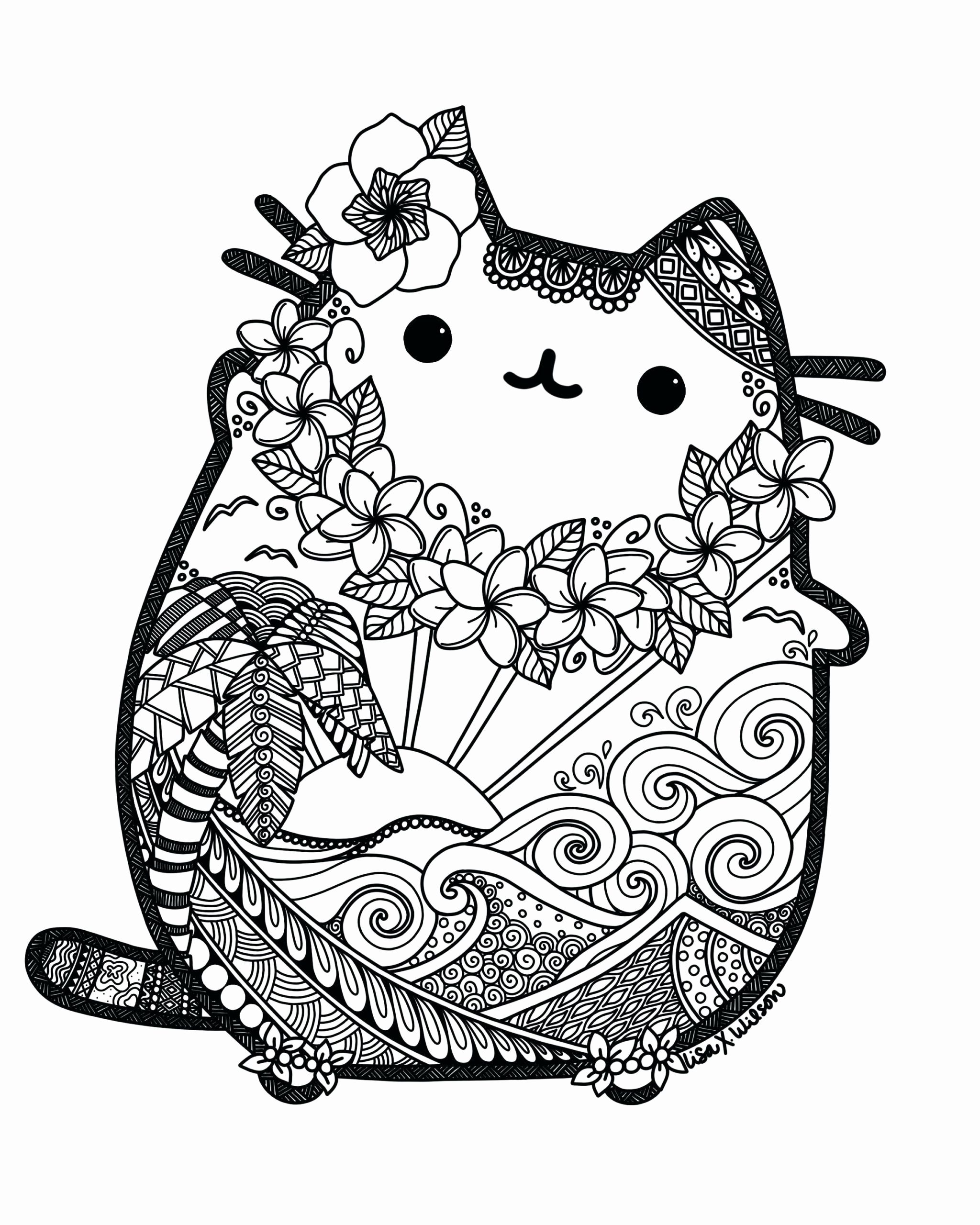 Cute Cat Coloring Pages For Kids In 2020 Hello Kitty Colouring Pages Kitty Coloring Pusheen Coloring Pages