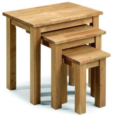 Julian Bowen Coxmoor Solid Oak Nest of Tables
