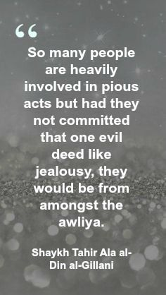 acts of jealousy