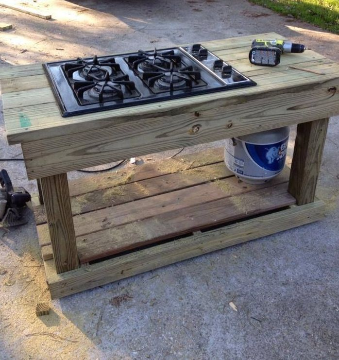 Find a gas range on craigslist or yard sale you have a for Outdoor kitchens for sale