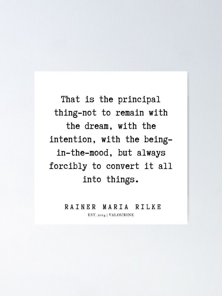 76  | Rainer Maria Rilke Quotes | 200120 Poster by QuotesGalore