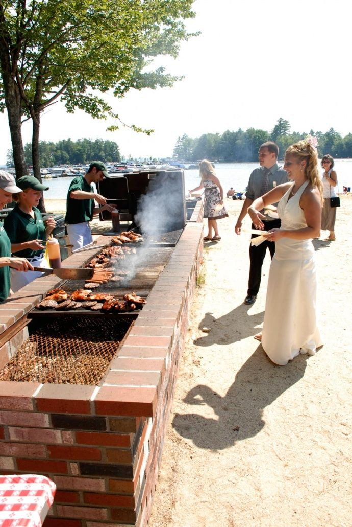 Bride At Beach Bbq Wedding Reception When The Day Comes Wedding