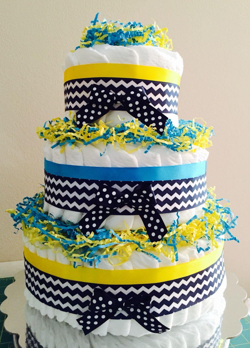 3 Tier Diaper Cake by LChavisCreations