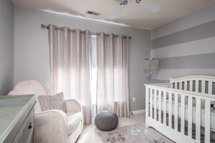 graue Wandfarbe und rose Satin Vorhänge Babyu0027s world Pinterest - wandfarben gestaltung grau