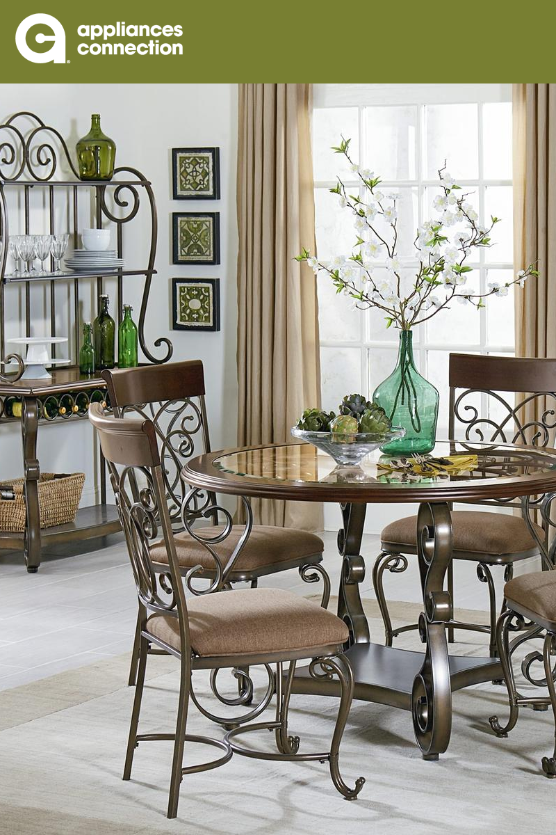 Bombay Collection 13421 4scbr 6 Piece Dining Room Set With Round