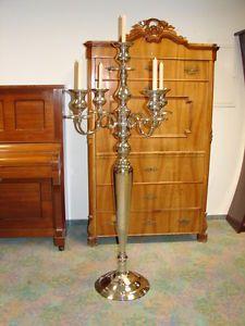 Klassischer Kerzenleuchter 155cm 20kg fünfflammig vierarmig Kerzenständer XXL