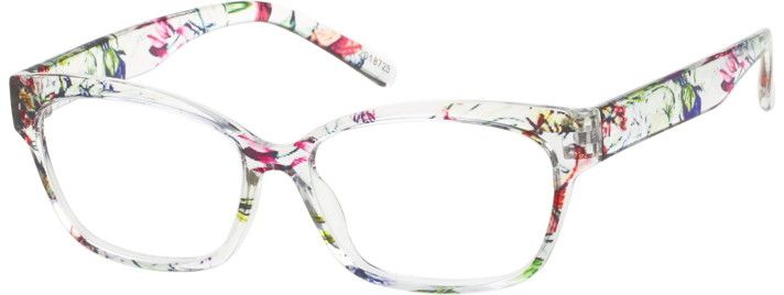 Pattern Cat-Eye Glasses #2018723 | Zenni Optical Eyeglasses ...