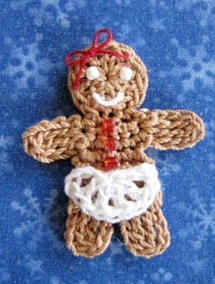 BellaCrochet: Poco Gingerbread Girl,  patrón gratis ❥Teresa Restegui http://www.pinterest.com/teretegui/❥