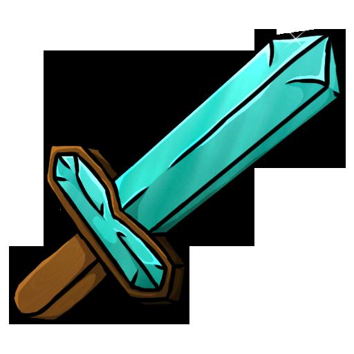Diamond Sword Icon Minecraft Iconset Chrisl21 Minecraft Sword Minecraft Clipart Minecraft Diamond Sword