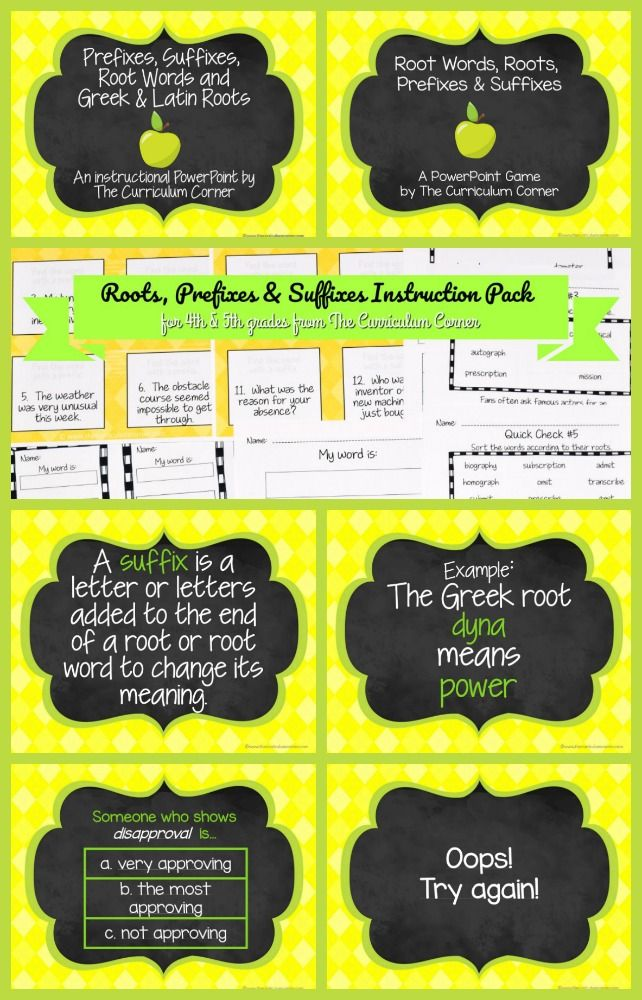 Word Parts Instruction Pack The Group Board On Pinterest