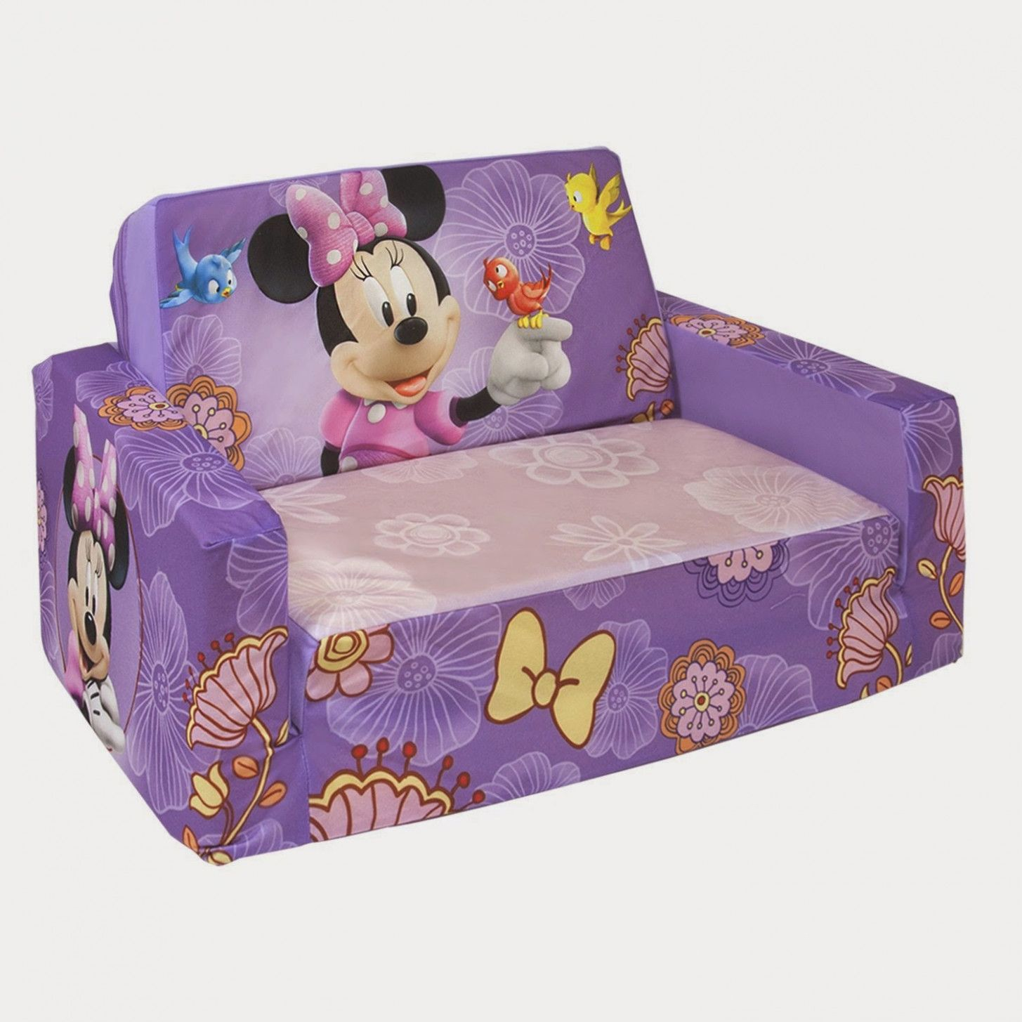 Kids Fold Out Couch Flipping Furniture Kids Couch Minnie Mouse