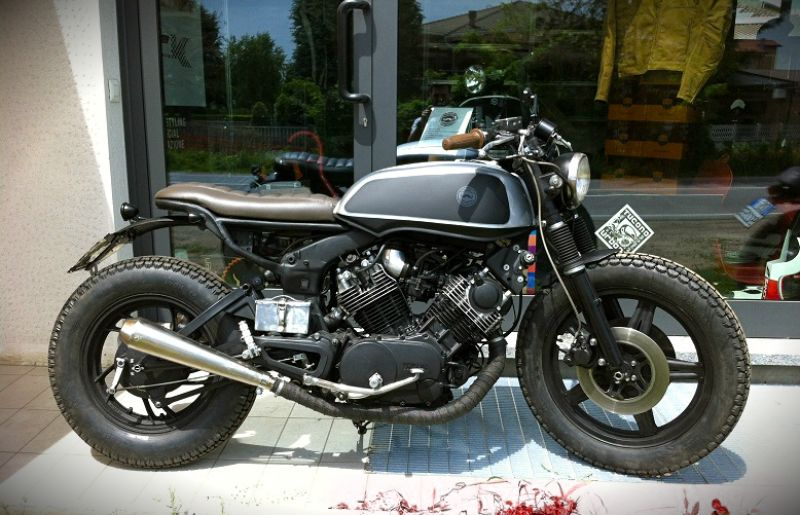 Yamaha Virago 750 By Skinny Cafe Racer Milchapitas Kustombikes