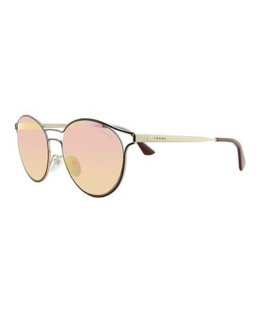 Pink Round Sunglasses #zulily #zulilyfinds
