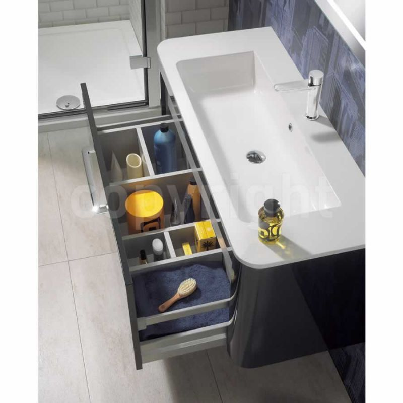 Bauhaus celeste 110 wall hung unit with basin buy - Designer wall hung bathroom vanity units ...