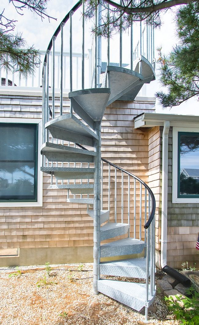 Galvanized Steel Spiral Stair Staircase Outdoor Spiral Stairs | Exterior Metal Spiral Staircase | Interior | Outdoor | Free Standing | Custom Exterior | Model