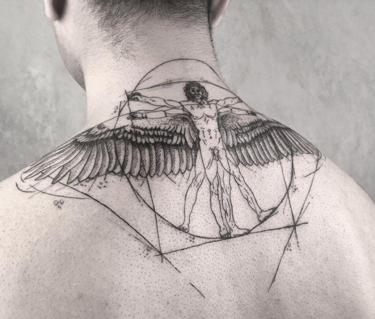 44++ Homme de vitruve tatouage trends