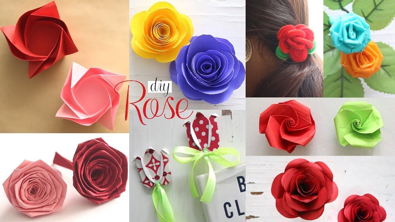8 Diy Paper Roses Paper Flowers Tutorial Como Hacer Flores