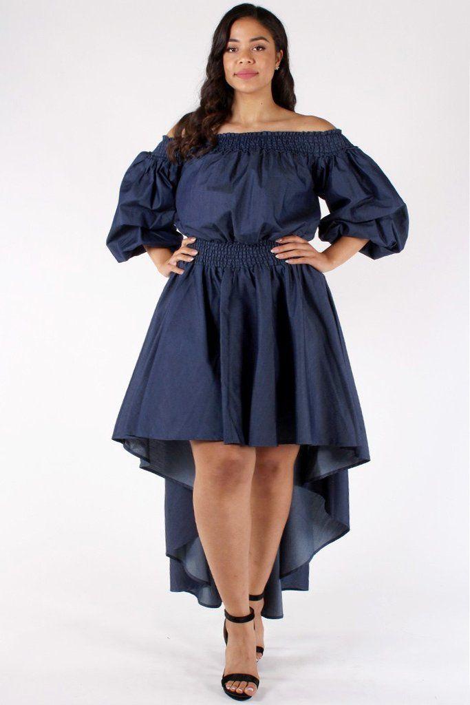 Angelic Ruffle Plus Size Denim Dress Fashion Pinterest Ruffles