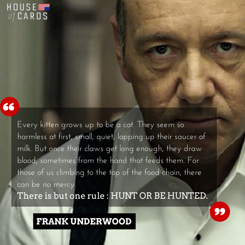 House Of Cards Quotes Pleasing House Of Cards  Frank Underwood Quotes Tv  Pinterest  Frank