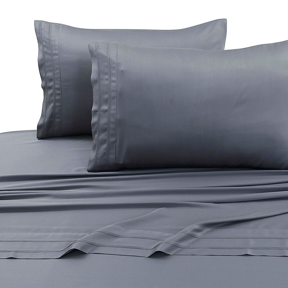 Tribeca Living 300-Thread-Count Rayon Made From Bamboo Full Sheet Set In Steel Steel Grey