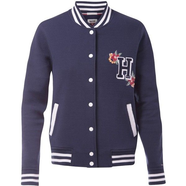 Tommy Hilfiger Varsity Jacket 4 715 Thb Liked On Polyvore Featuring Outerwear Jackets