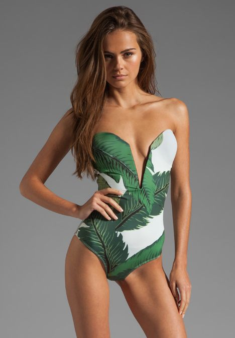 BEACH RIOT // STONE_COLD_FOX Gally Cook One Piece in Green $195