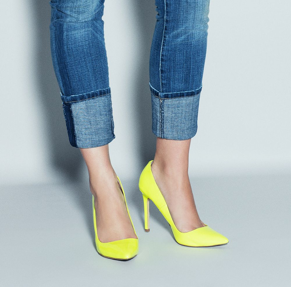 Nothing like a bright shoe to put the outfit together or spice it up