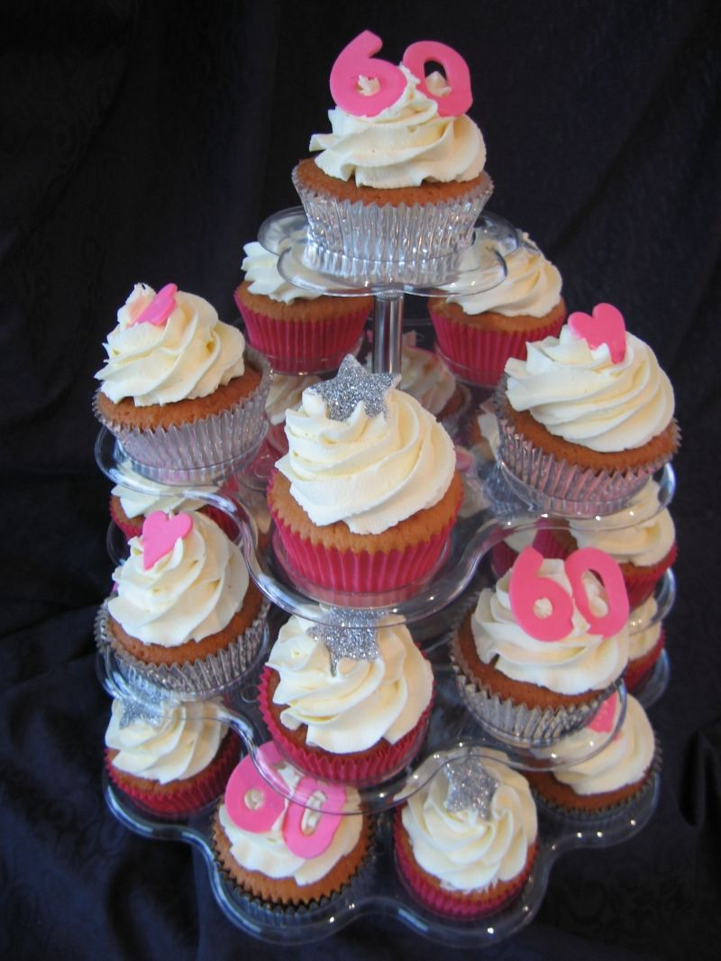 60th Birthday Cupcake Ideas