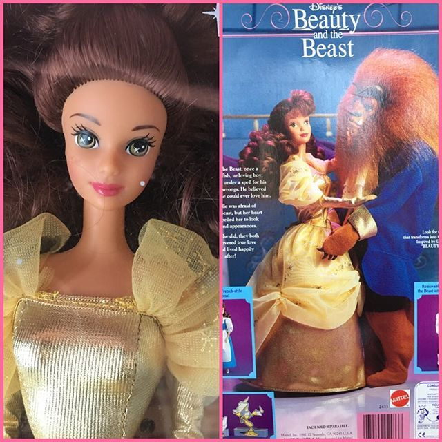 Who's in a nineties mood?!  Beauty and the Beast 1991. #belle #batb #beautyandthebeast #nineties #90s #90stoys #disney #ppbdisney #disneydolls #disneyprincess #throwbackthursday #tbt #nostalgia #doll #dollcollector