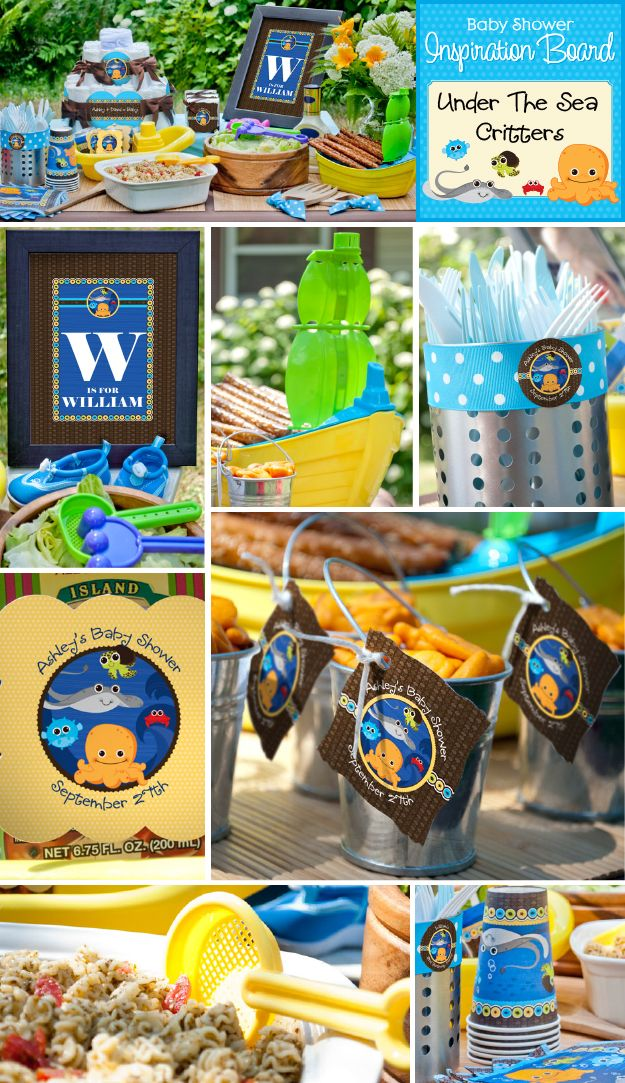 Under The Sea Critters Baby Shower Theme Summer Baby Shower Ideas