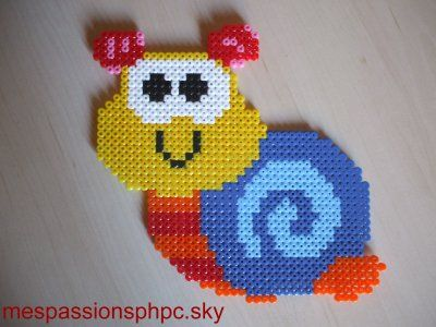 Snail hama perler by mespassionsphpc