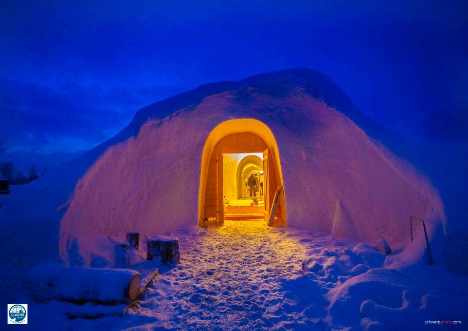 Iglootel in Lappland
