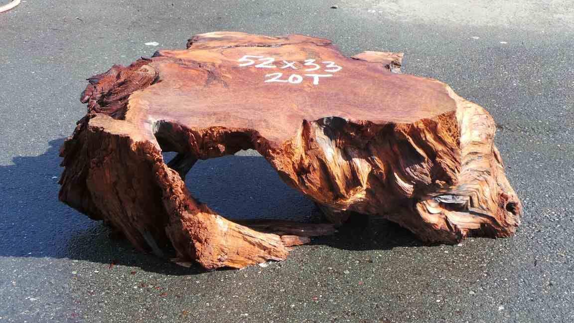 Rustic Bases Redwood Cedar Manzanita Burls Tree Trunk Table