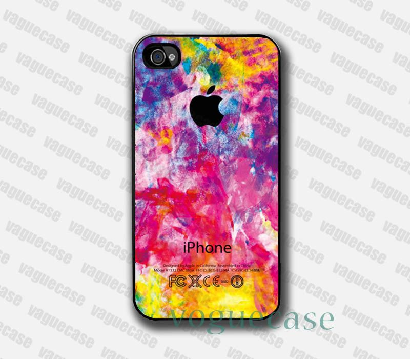 Iphone case - Colorful Apple , Iphone 4 case , Iphone 4s case  iPhone 4G Hard Case. $8.99, via Etsy.