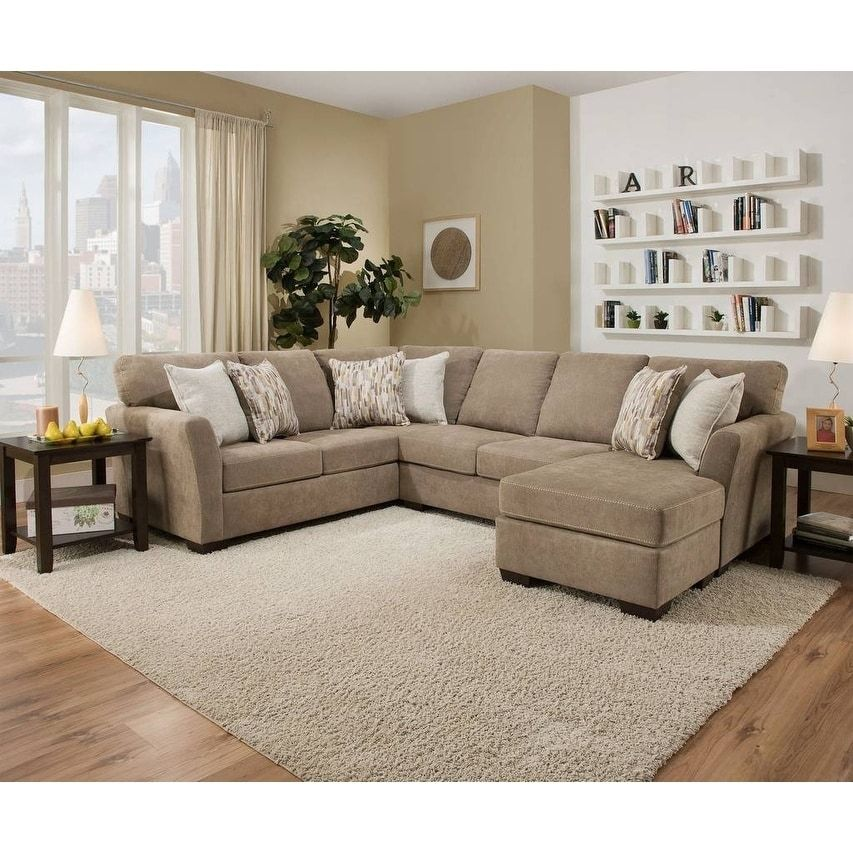 Simmons Upholstery Pacific Mocha Sectional, Tan in 2020 ...
