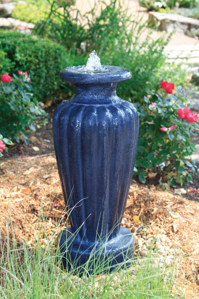 Classic Greek Urn Fountain W Pump Large Gray Slate 78045 Water Features In The Garden Water Features Decorative Water Fountain