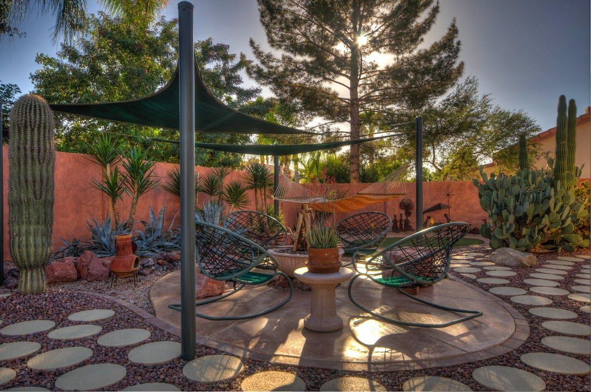 desert backyard landscaping - google