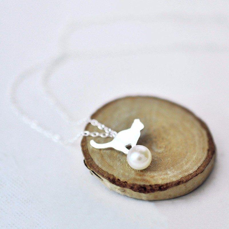 Collar Gatuno con perla