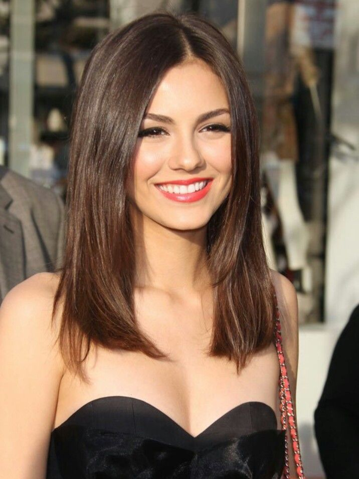Medium One Length Hairstyles and try hairstyle at home