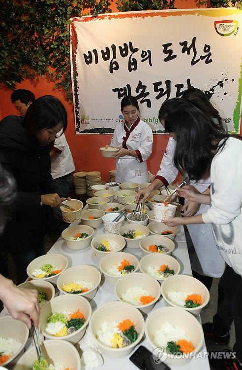 It's a bibimbap affair at Trick Eye Museum in Hongdae, Seoul, Korea!