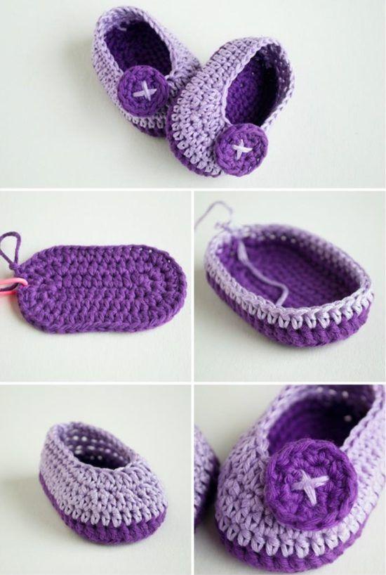 Crochet Baby Booties Pattern Lots of The Sweetest Idea   Pinterest ...