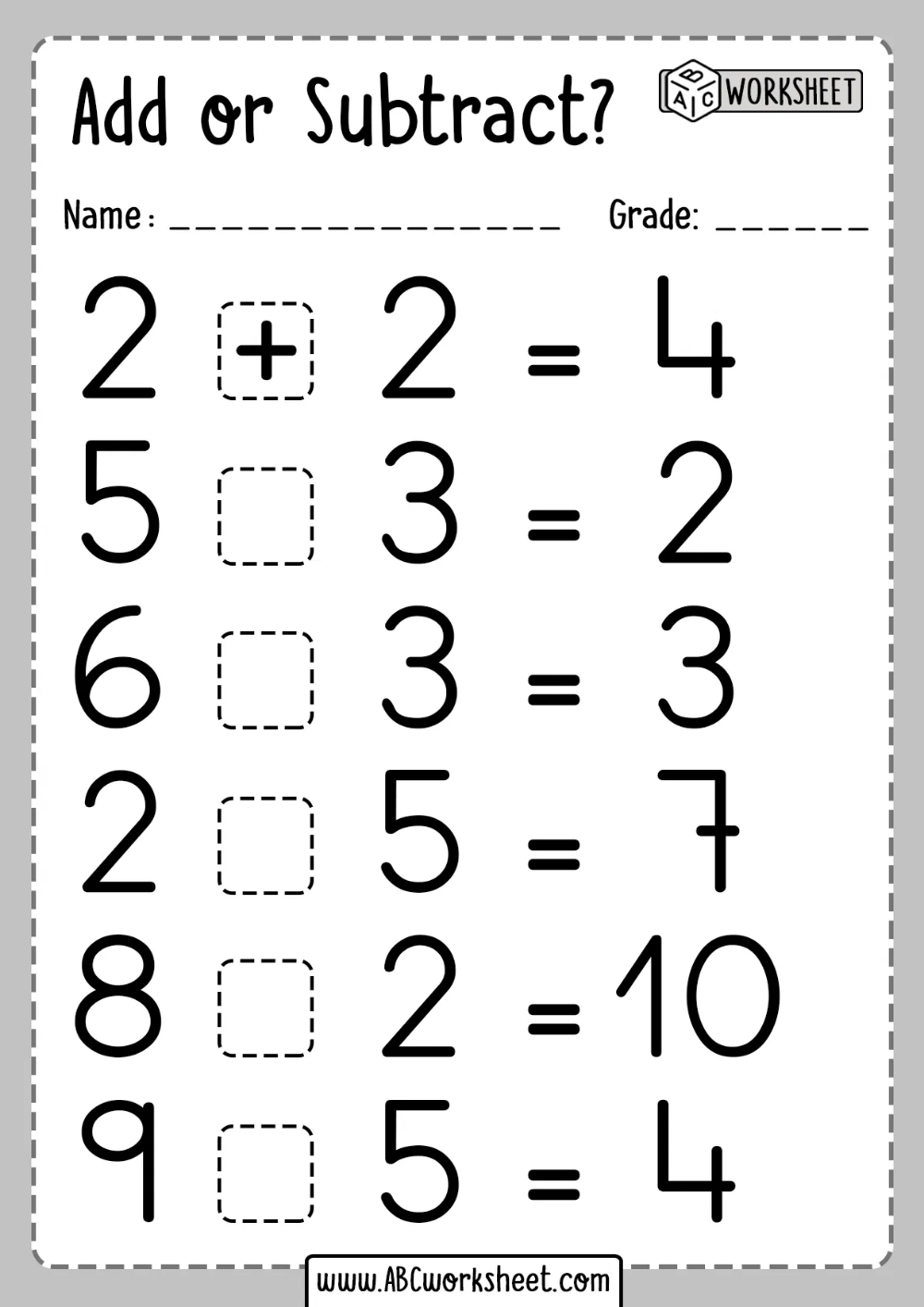 small resolution of Addition and Subtraction worksheets   Addition and subtraction worksheets