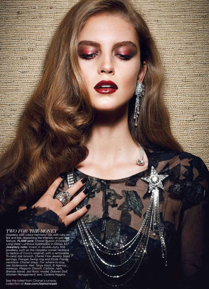 Photo of Holiday Jewelry Editorials Flare Magazine 'A Fine Surplus' – Holiday Je …