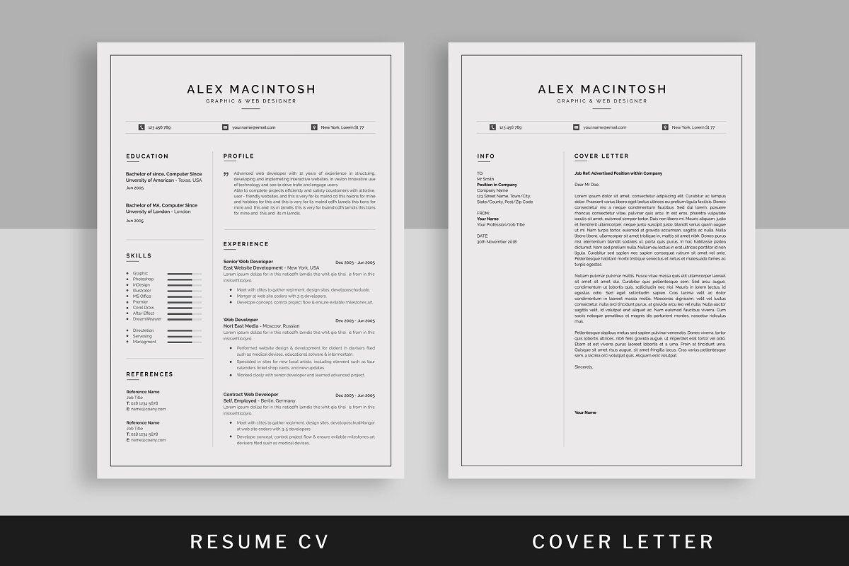 Resume Cv Unique Resume Template Resume Cv Resume