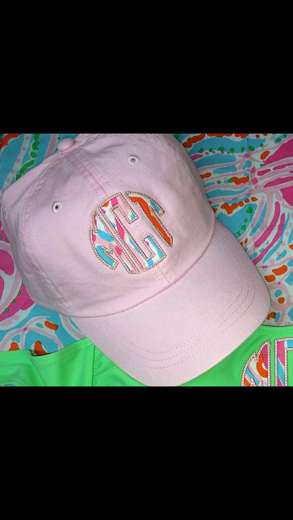 c71acdd03f8 Lilly Pulitzer Monogrammed Hat by TantrumEmbroidery on Etsy