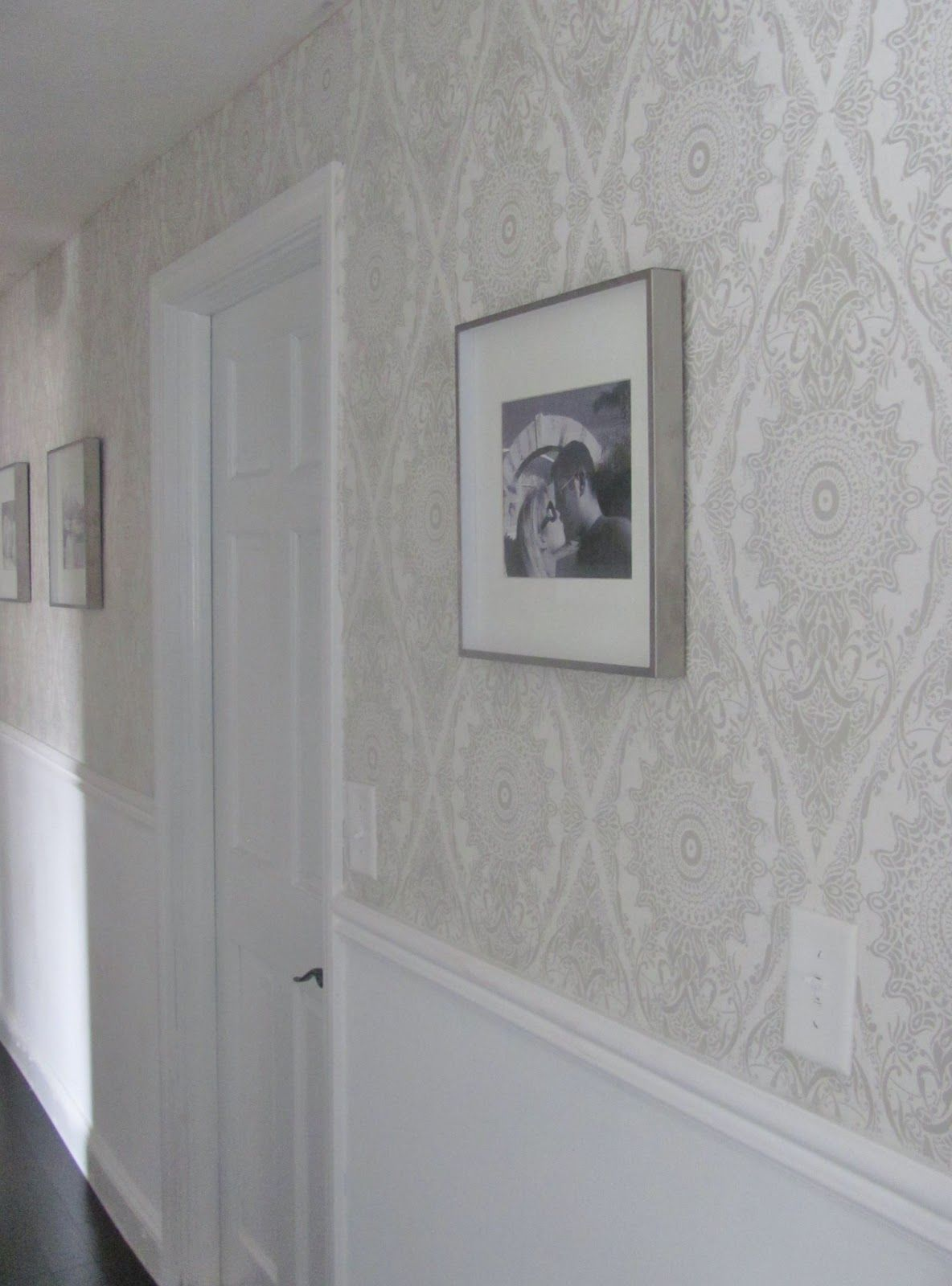 Damask wallpaper hallway ideas  Wallpaper in Hallway  Black Pearl Interiors  Clever Design