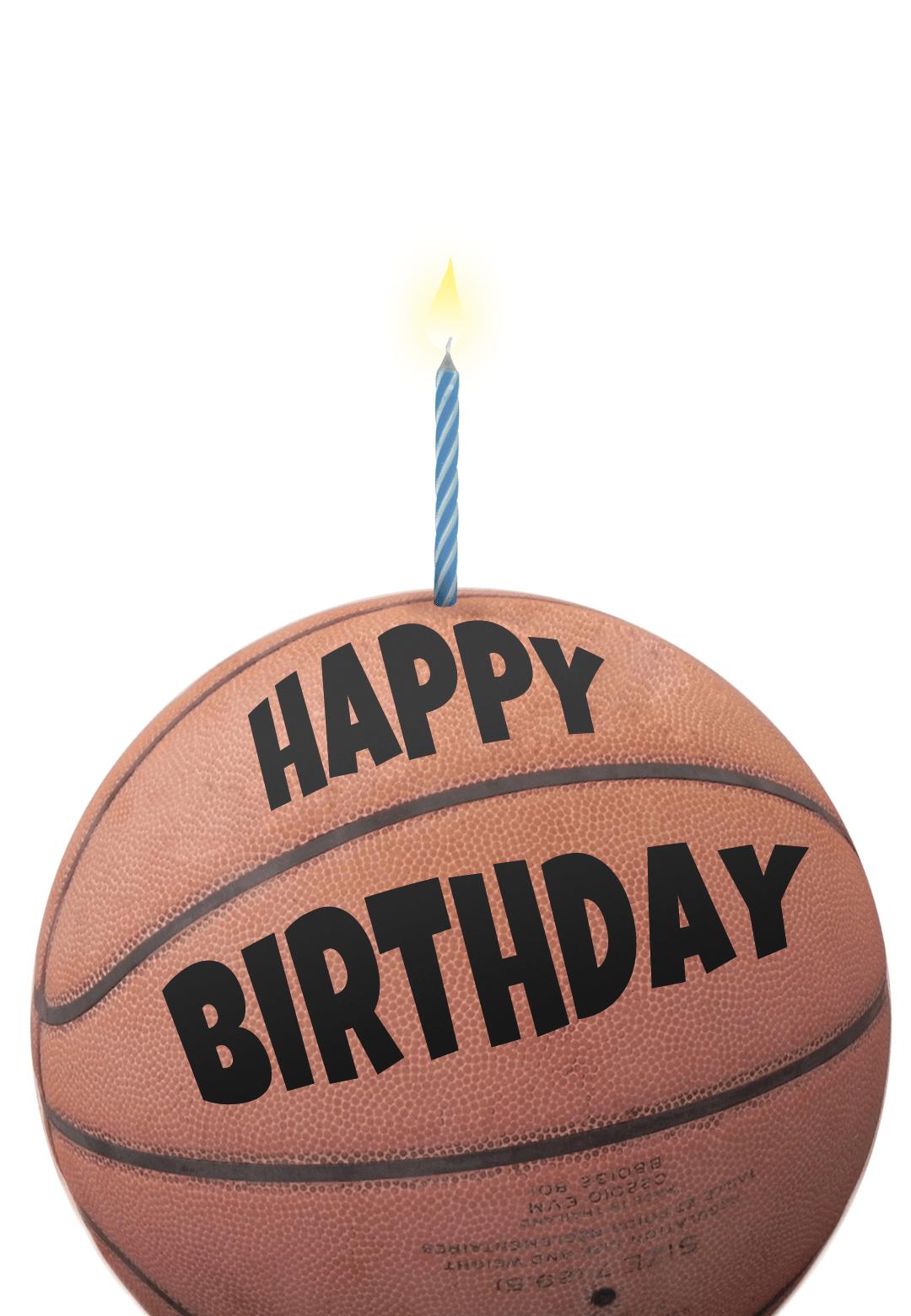 free printable birthday card basketball greetings island