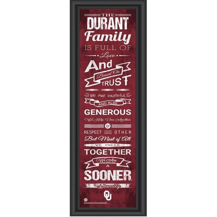 Oklahoma Sooners Personalized Family Cheer Print | .tyxgb76aj\