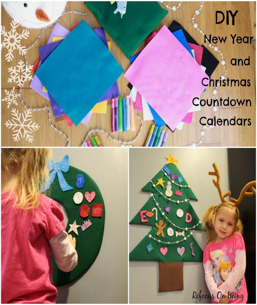 DIY New Year and Christmas Countdown Calendars Christmas
