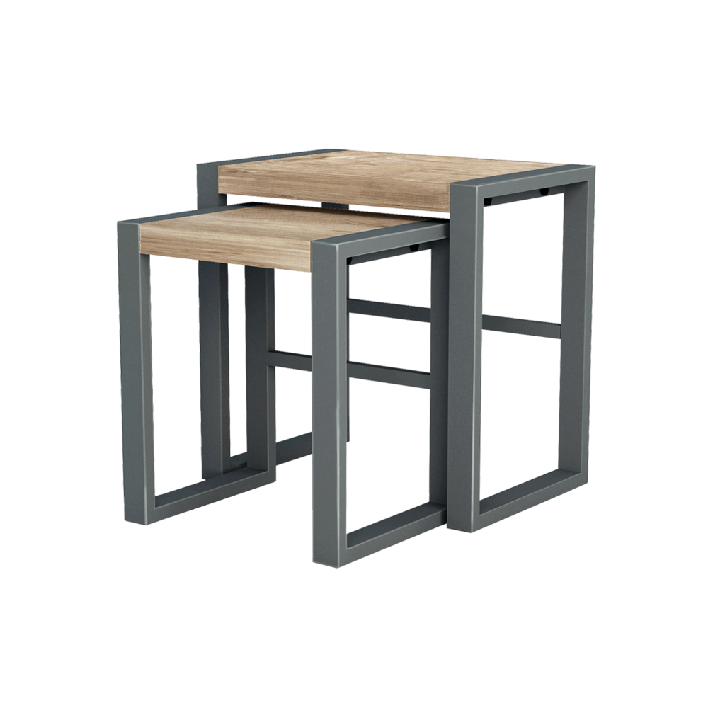 Ti-304 nesting tables, set of 2 | Teak, Iron furniture and Industrial